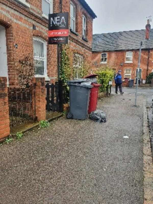 bins on street. no room to pass safely-22 Northfield Road, Reading, RG1 8AH