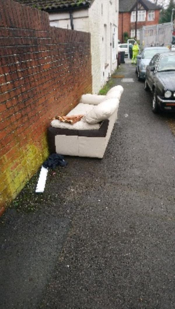 Fly tipping not cleared very heavy -71 St Peters Road, Reading, RG6 1PD