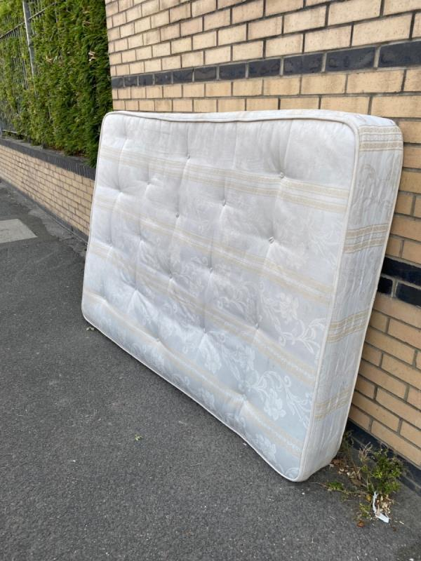 Dumped mattress on Boxley Street. -48 Boxley Street, North Woolwich, E16 2AN