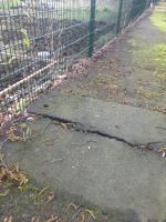 Total disgrace , like a roller coaster up & down, then massive gaps, kerbs moved because of trees roots image 1-17 Reynolds Avenue, London, E12 6JS
