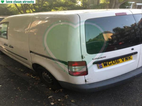 This van has been here for months and is missing the registration plate at the front -60 Cranfield Road, Honor Oak Park, SE4 1UG