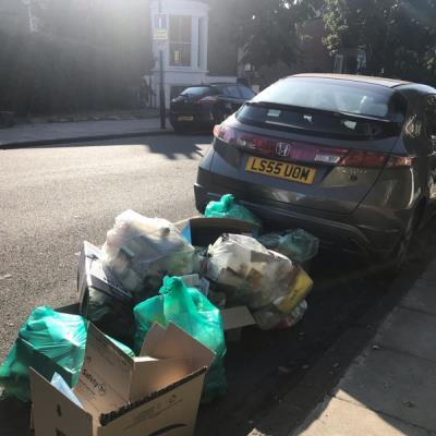This issue is ongoing. What can be done about the residents from Florence need surrounding my car with their rubbish? They are damaging my car. -29 Ardleigh Road, London, N1 4HS