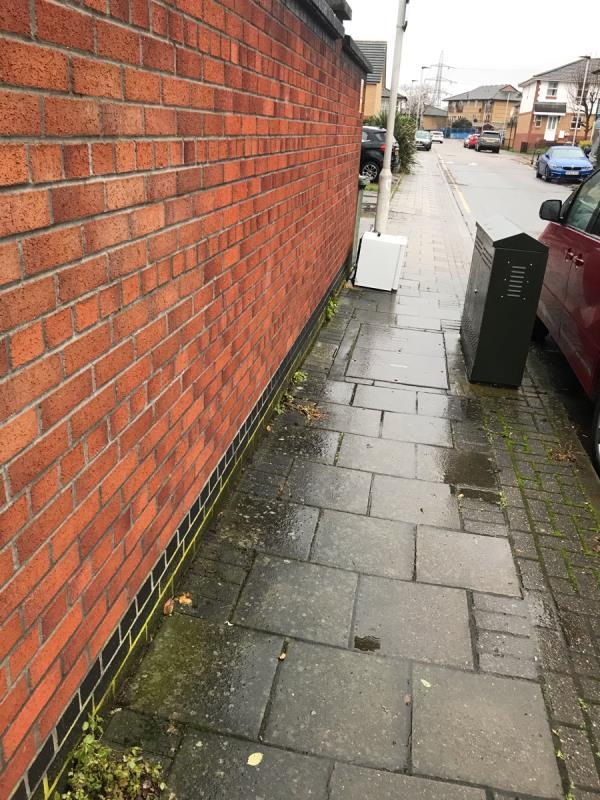 Small fridge left on the path -10 Downings, London, E6 6WP