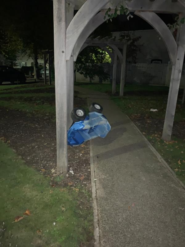 Dumped toy car-38 Sutton Avenue, Leicester, LE4 6SA
