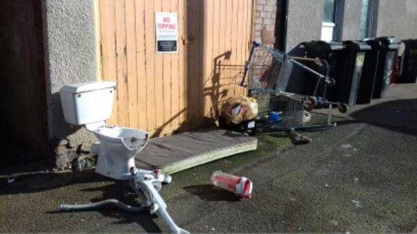 this is what was left after the binmen came this morning...Sent photo this morning of the same spot before binmen came outside corner shop on Hawthorne street.-100 Hawthorne Street, Leicester, LE3 9GL