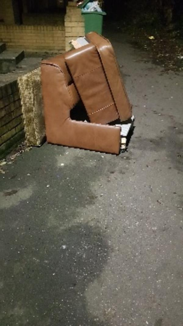 old chair in path-49 Davis Street, London, E13 9EE