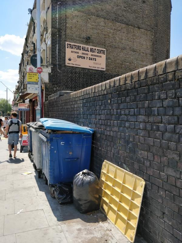 Flytipping beside 204 The Grove E15-204 The Grove, London, E15 1NS
