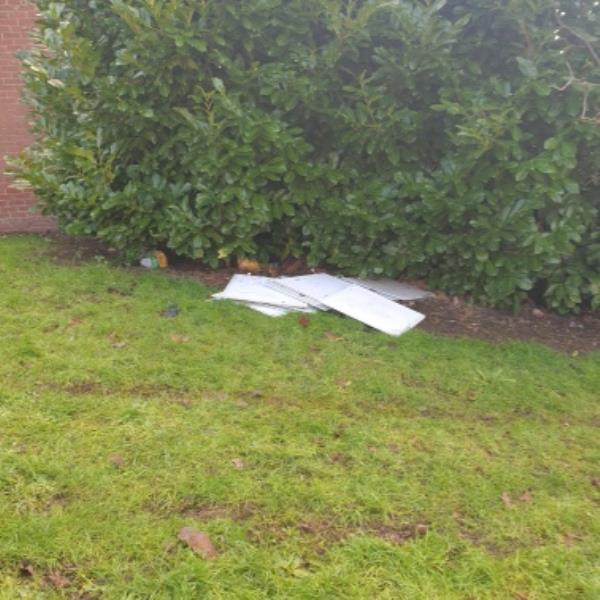 fly tipping on Dunstall Hill green to Glentworth GDS. both sides of path-125 Dunstall Hill, Wolverhampton, WV6 0SW