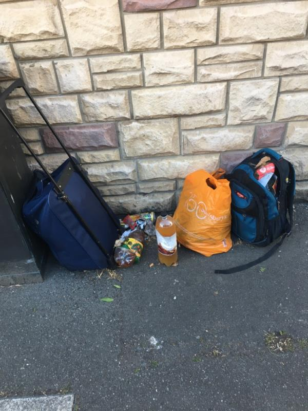 Fly tipping -84 Station Road, London, E7 0AD