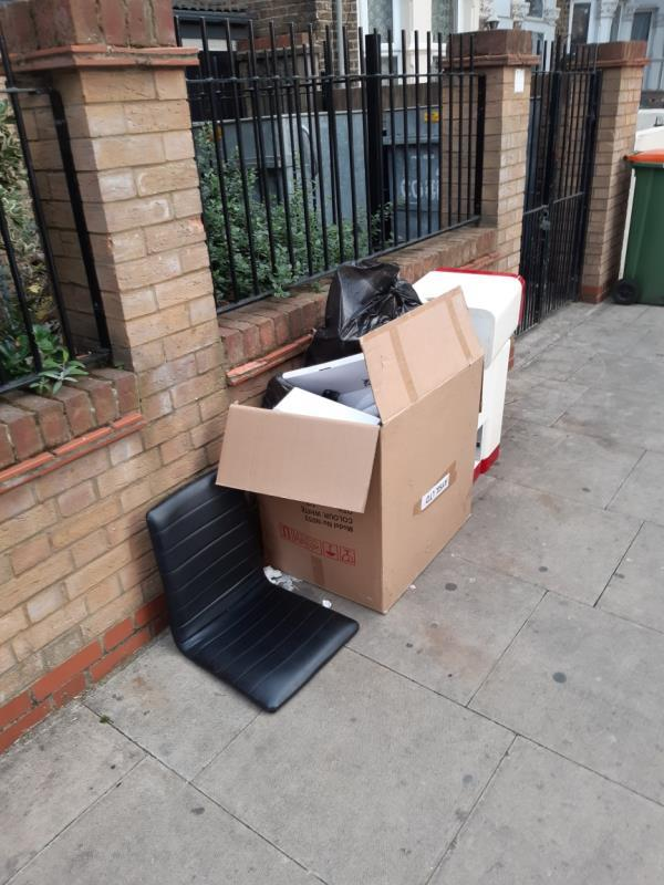 Possible commercial waste.. investigation in progress -57B Barking Rd, London E6 1PY, UK