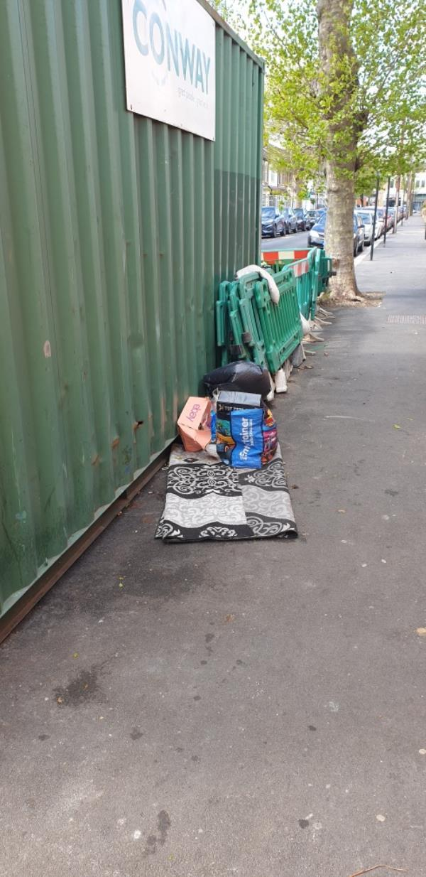 2 bags, with household waste no evidence -9b Jephson Road, Green Street East, E7 8NA