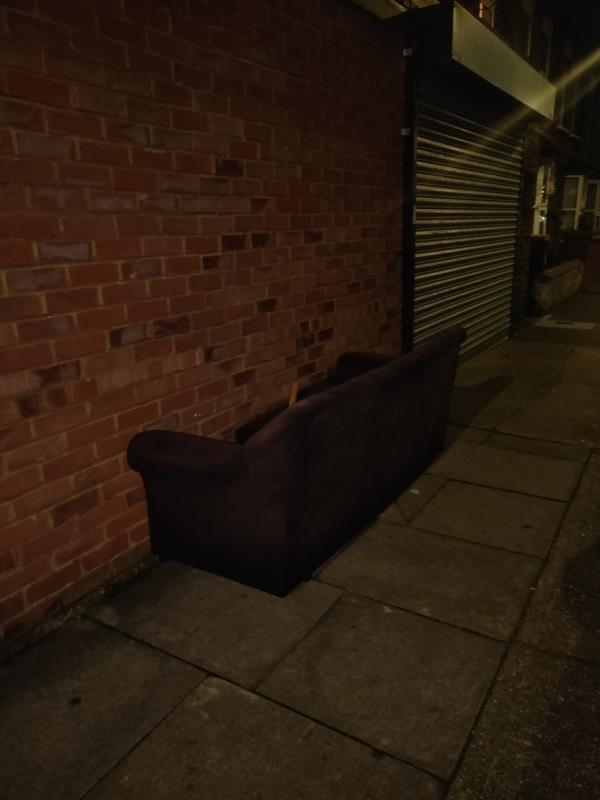 A sofa has been fly tipped-2b St Johns Terrace, London, E7 8BX