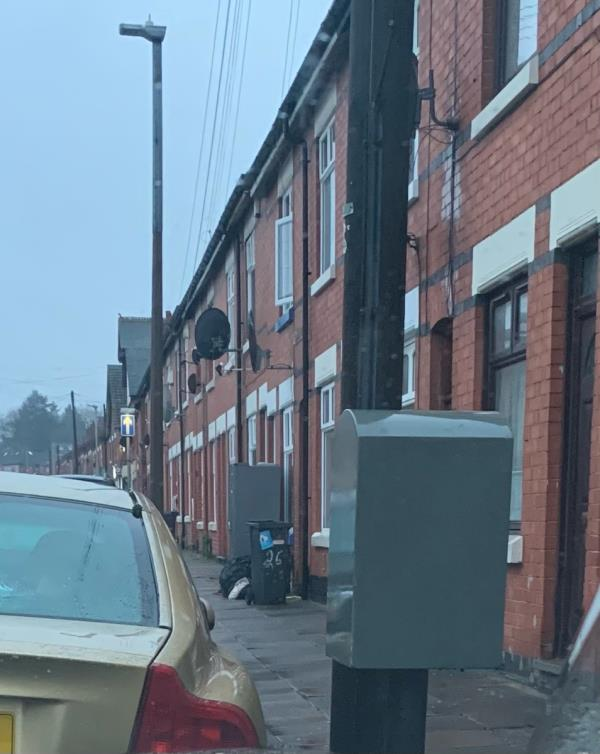 Constant dumping of black bags with rubbish outside 26 kedleston road -38 Kedleston Road, Leicester, LE5 5HU