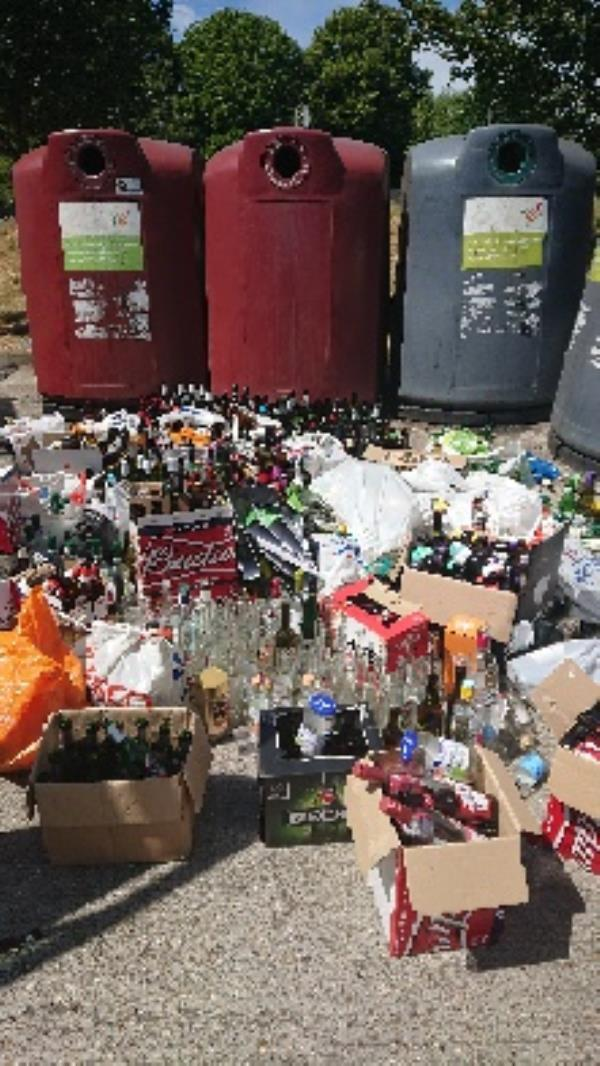 Bottle s cleared around banks-33 Belmont Road, Reading, RG30 2UT