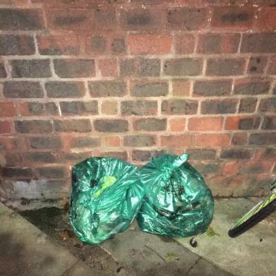 Fly tipping at end of a Grazebrook Road-53 Lordship Rd, Stoke Newington, London N16 0QJ, UK
