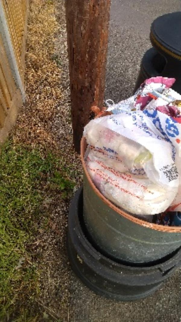Bin full of household waste no evidence taken -223 Hartland Road, Reading, RG2 8DN