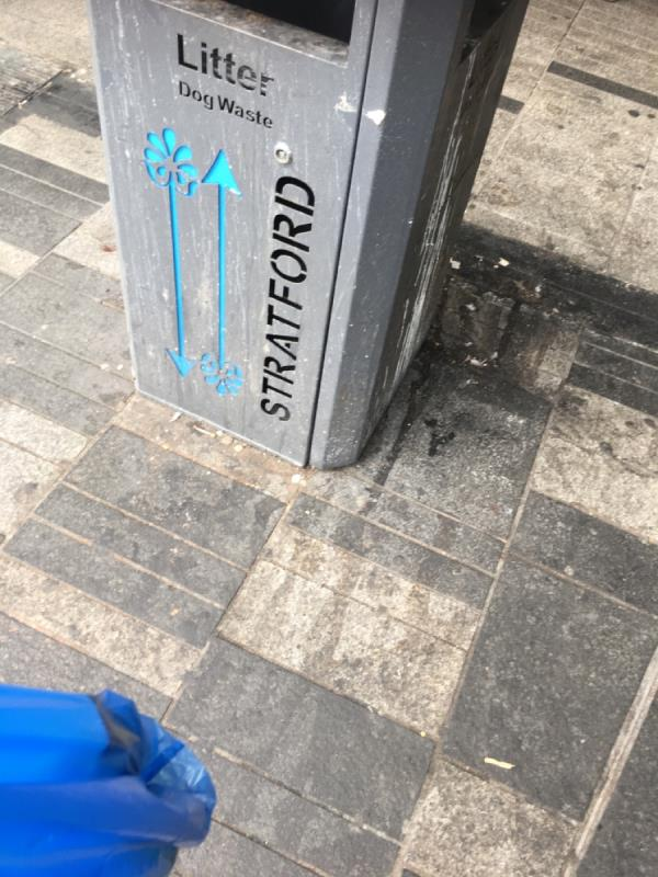 New bin needed-1-2 High Street, London, E15 1NG