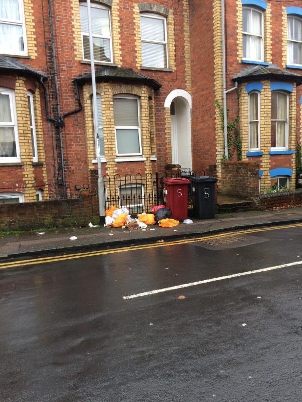 More rubbish -40 Carey Street, Reading, RG1 7RL