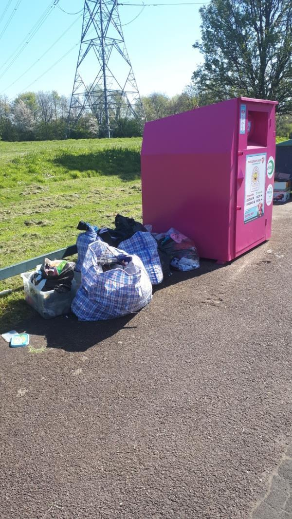 Electrical goods house clearance rubbish.  Opposite Newham City Farm.-65 Jade Close, London, E16 3TZ