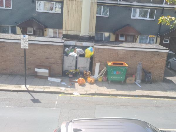 more rubbish all over the pavement.  Great view to wake up to...again.-28 Shirley Road, London, E15 4HX