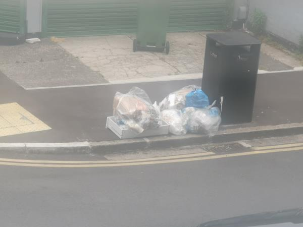 rubbish dumped-55b Frinton Road, East Ham, E6 3EZ