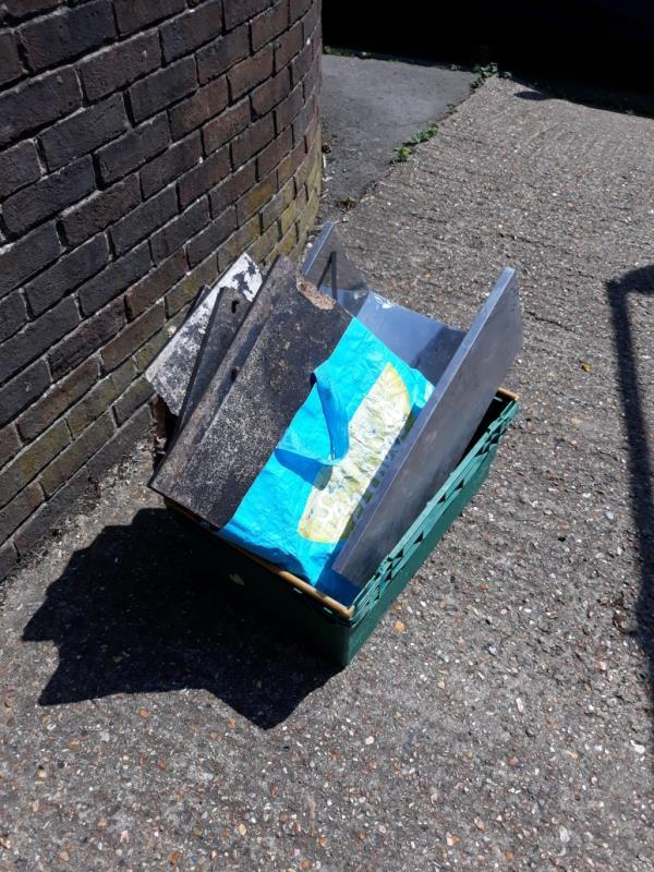 various broken furniture bags of garden waste and various wood -30 Peters Path, London, SE26 6LD