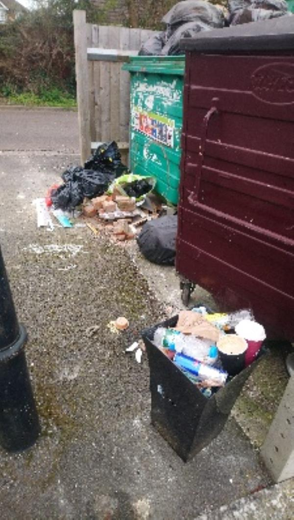 Fly tip in refuse area of 9-17 Bob Green Court -16 Bobgreen Court, Reading, RG2 8UE