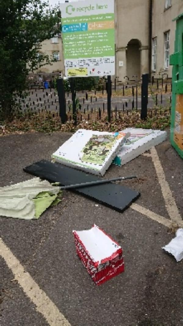 House old waste removedl fly tipping -Riversley Court, 205 Wensley Road, Reading, RG1 6ED
