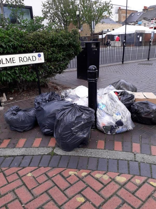 various black bags-10a Holme Road, East Ham, E6 1LY