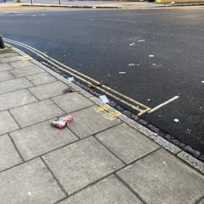 More of the same litter on Ardleigh Road-104 Buckingham Rd, London N1 4JE, UK