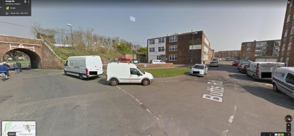 We are moving into the premises that connects Grange Road and Butts Road, there are quite a few commercial vehicles that park on the pavement on the junction and the grass is looking unsighly.  Is there anything we can do to prevent this from happening-7 Butts Road, Southwick, BN42 4EJ