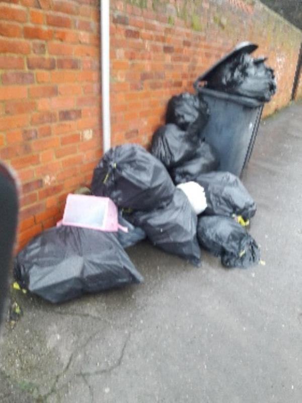 rubbish on path-108 Highgrove St, Reading RG1 5EN, UK