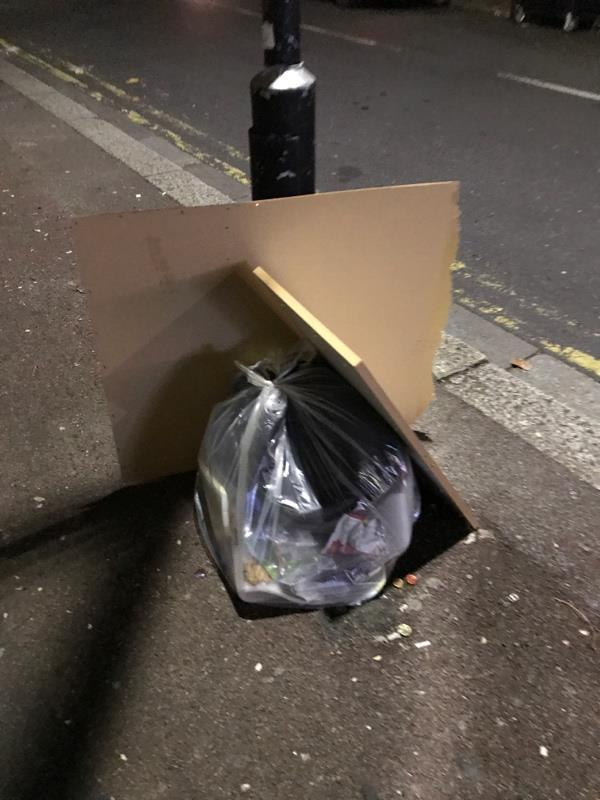 Rubbish on pavement -631 Romford Rd, Manor Park, London E12 5AD, UK