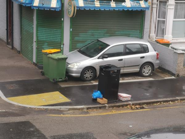 rubbished dumped by neighbours -55b Frinton Road, London, E6 3EZ