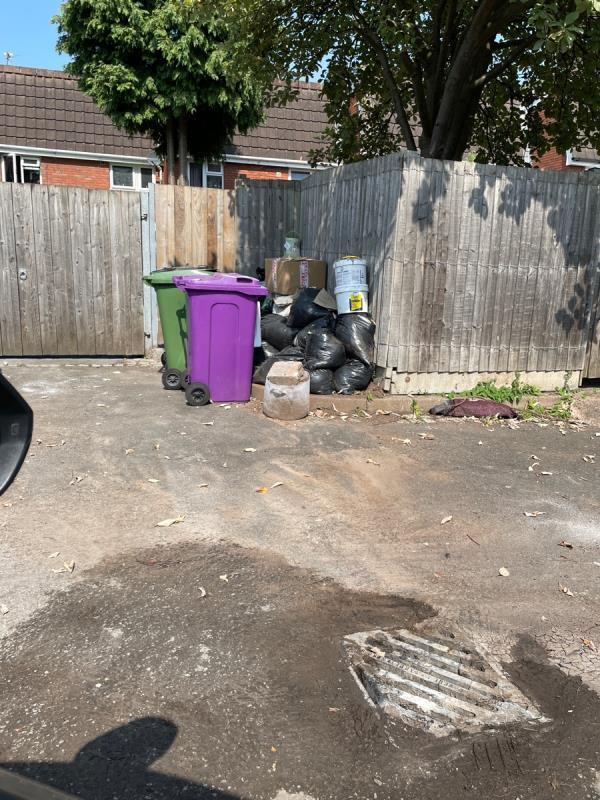 Rubbish in car park-51 North St, Wolverhampton WV1 1RJ, UK