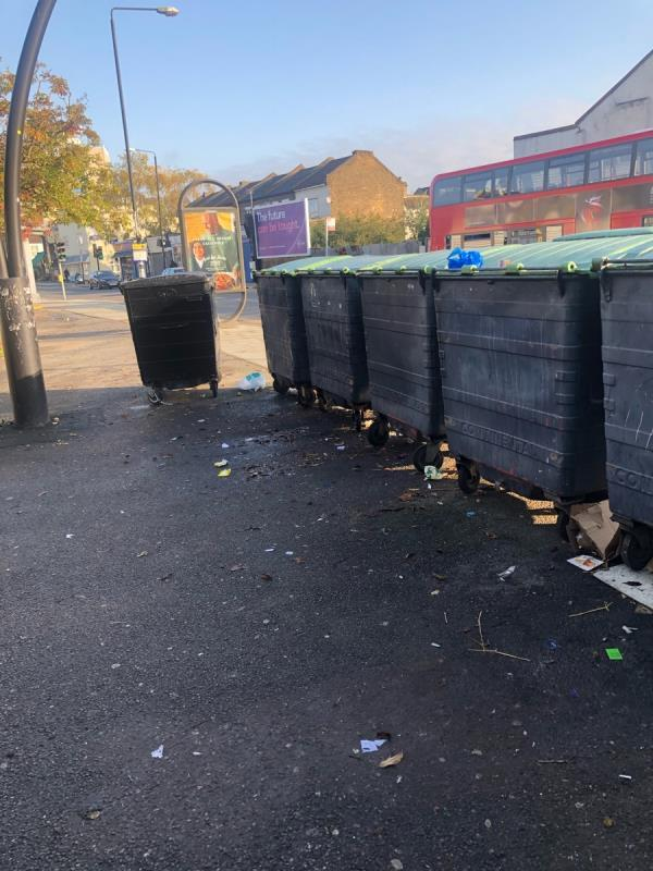 While area need tidying. Broken glass and rubbish everywhere. -3 Chestnut Avenue, London, E7 0JQ