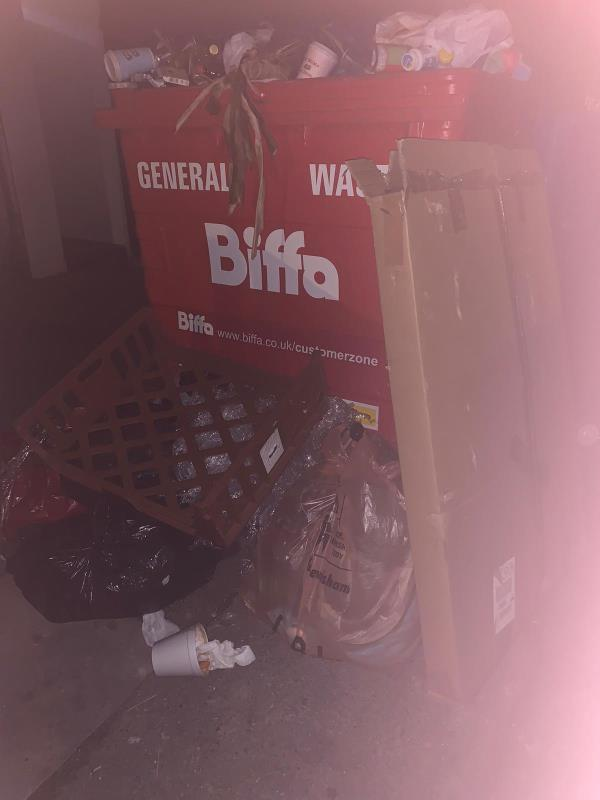 Every night people are tipping outside our restaurant. There is also a red bed that has been left from previous business owners who have left since last year and have not collected. -3A George Ln, London SE13 6HQ, UK