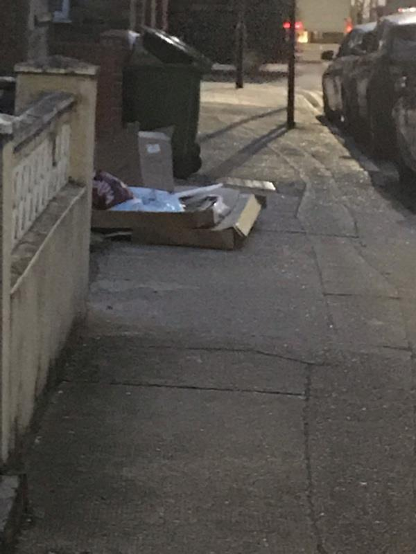 Fly tipping  -3 Navarre Road, London, E6 3AQ