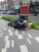 Bin Bags and Litter left at this location image 1-200 The Grove, London, E15 1NS