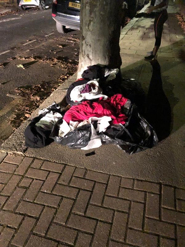 Fly tipped rubbish outside 96 Halley Road-96 Halley Road, London, E7 8DU
