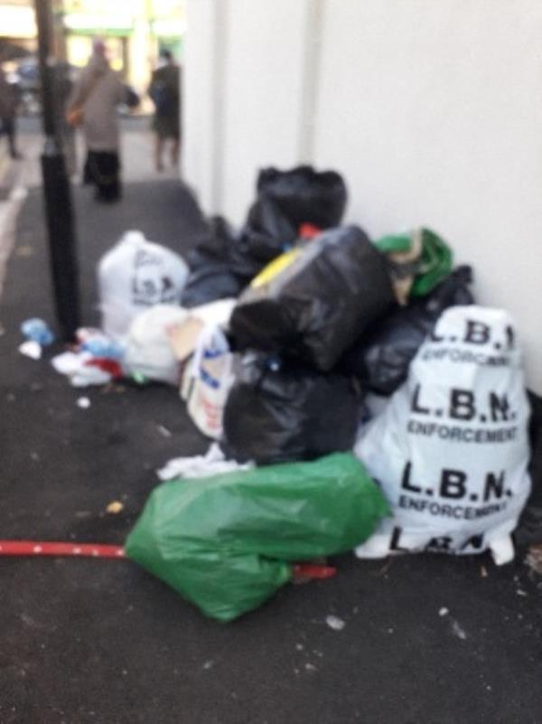 23x bags of waste 1x fridge-358b Barking Road, London, E13 8HL