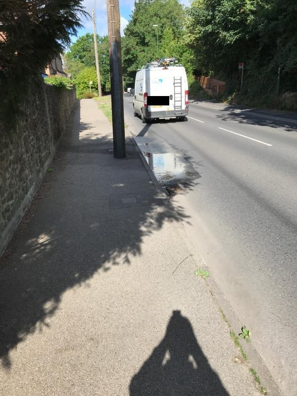 Suspected water leak. No recent rain and only wet patch around-6 Lower Street, Pulborough, RH20 2BN