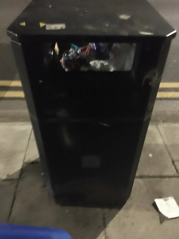 Bin over flowing  image 2-113 Church Road, Manor Park, E12 6AF