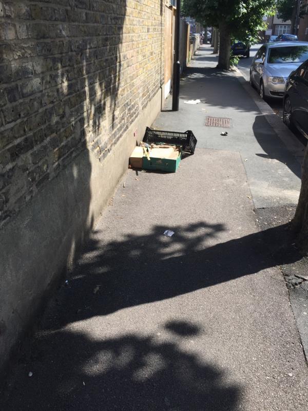 Dumped rubbish -20 Rancliffe Road, East Ham, E6 3HN