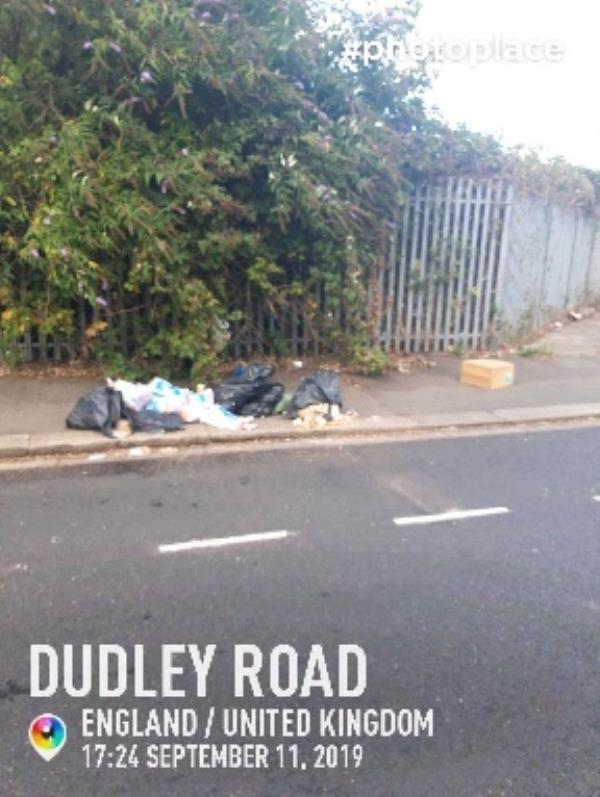 fly tip -105 Dudley Road, London, UB2 5AT