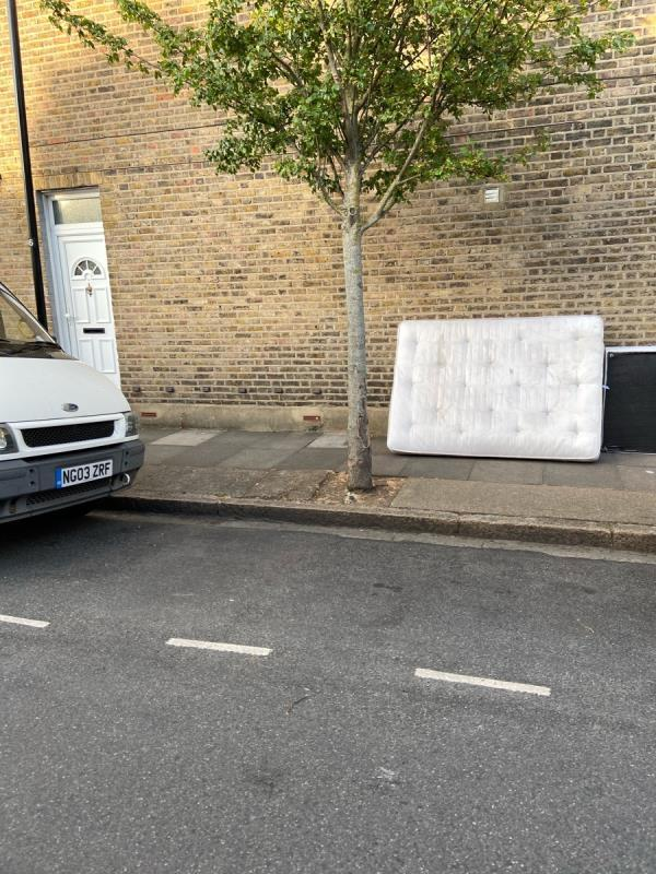 Bed in street again. Tipped in broads daylight. Between 3pm- 7pm.  image 2-19 Friars Road, London, E6 1LJ