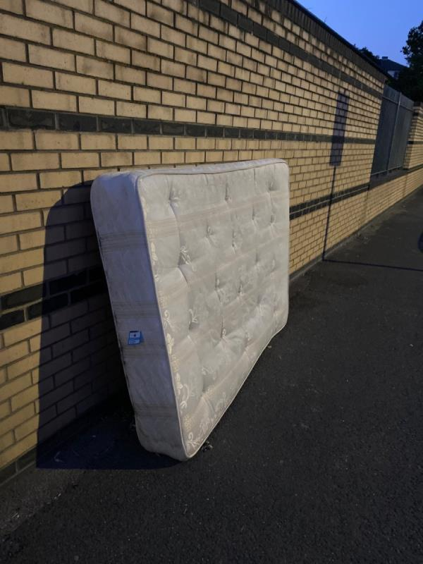 Mattress on the pavement -31 Boxley Street, North Woolwich, E16 2AN