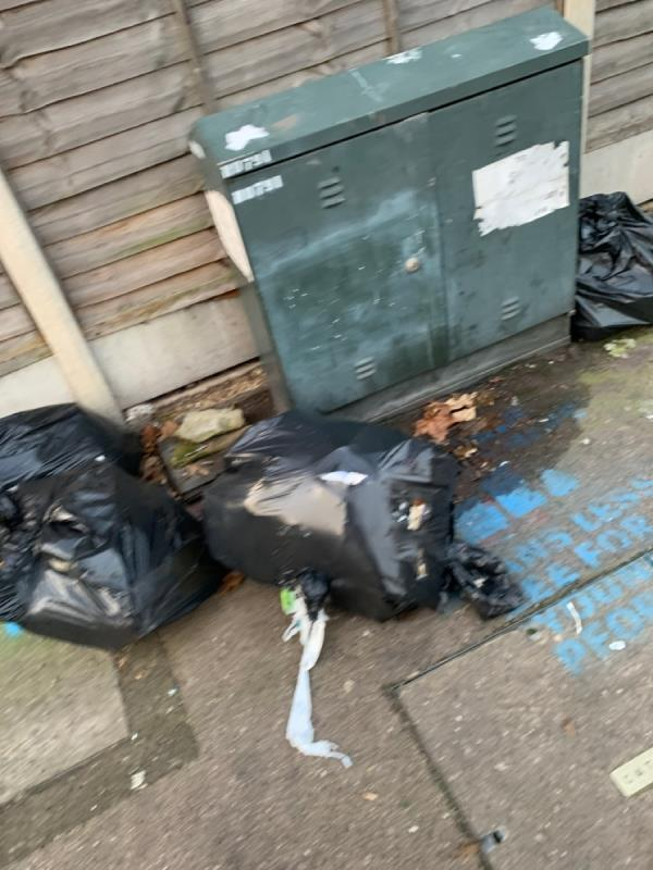 Fly tipping-106c Clova Road, London, E7 9AF