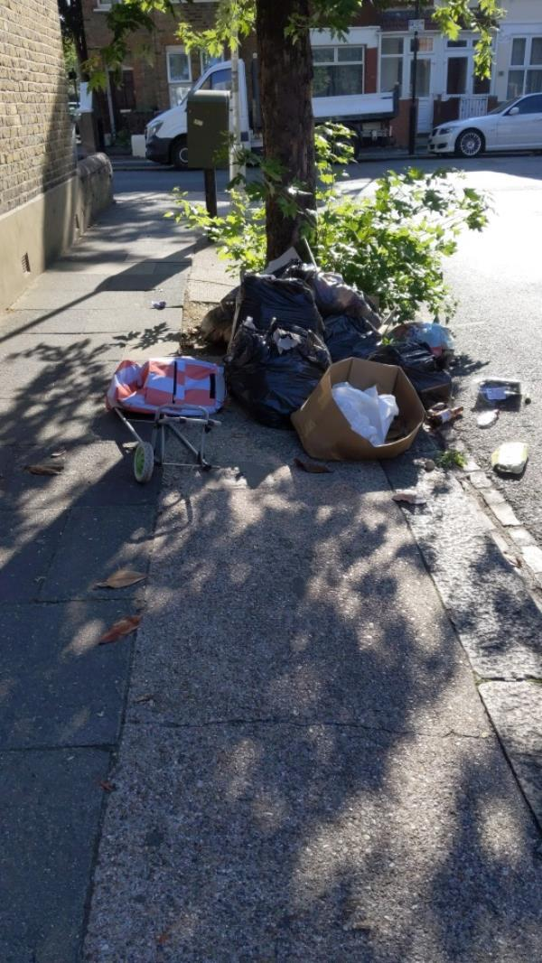 rubbish blocking the pavement absolutely disgusting every single day!-63 Southern Road, Plaistow, E13 9JD