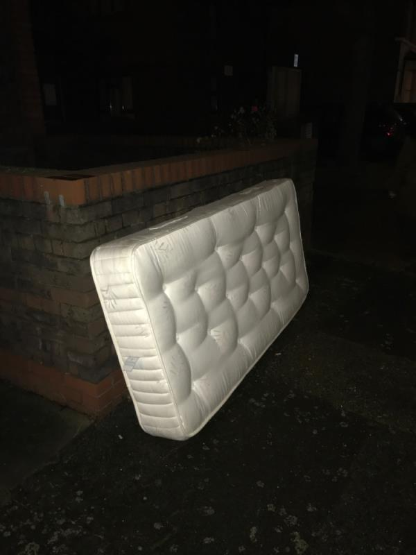 Mattress left on newton road -37 Newton Road, London, E15 1LR